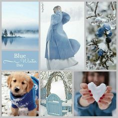 Blue Winter Day. #moodboard #mosaic #collage #inspirationboard #byJeetje♡