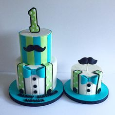 Little Man 1St Birthday & Matching Smash Cake