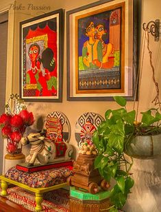 Pinkz Passion : Whimsically Ethnic (Home Tour of Poornima Murthy) Part Ethnic Home Decor, Indian Home Decor, Bohemian Decor, Indian Home Interior, Diy Interior, Interior Decorating, Apartment Therapy, Indian Inspired Decor, Seattle Homes