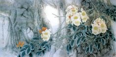 Китайский живописец Yitao Liu (220 работ) Floral Illustrations, Japanese Art, Asian Art, Watercolor, Flowers, Painting, Inspiration, Spin, Bread