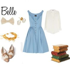 Outfit inspired by #Belle #Disney #Princess -- If I could wear this for the rest of my life, I would.