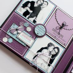 Page album feutre Steff - Photo de Steff - Florilèges Design Album Photo Scrapbooking, Mini Albums Scrapbook, Wedding Scrapbook, Scrapbook Paper Crafts, Scrapbooking Layouts, Scrapbook Cards, Paper Crafting, Diy Album Photo, Minis