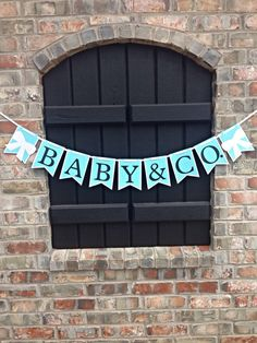 READY TO SHIP Gender Neutral Blue and White, Baby & Co. Tiffany Baby Shower, Tiffany Blue, Bride-To-Be, Birthday, Party Decoration
