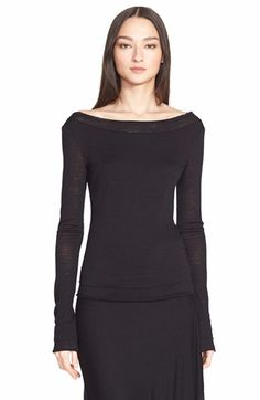 Donna Karan New York Wool Blend Jersey Top available at #Nordstrom