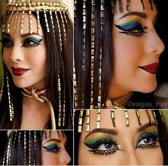 Amazing Cleopatra look!  sc 1 st  Pinterest & 85 of the Most Jaw-Dropping Halloween Makeup Ideas on Instagram ...