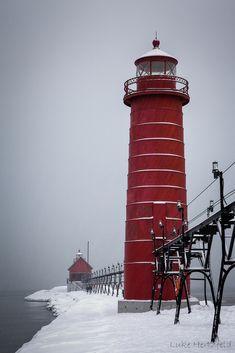Snowy Grand Haven Pier | by Luke Hertzfeld
