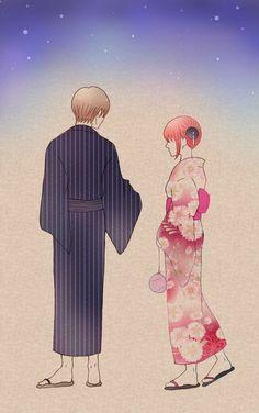 Sougo Okita x Kagura [OkiKagu], Gintama Okikagu Doujinshi, Gintama Wallpaper, Kimi No Na Wa, Kagerou Project, Find Picture, More Cute, Anime Couples, Manhwa, Cute Pictures