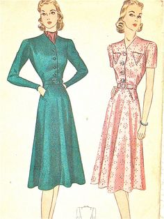 Vintage late 1930s sewing pattern Simplicity 2691.  by Fancywork (Note that this is actually showing a Simplicity 3145, and the dealer didn't provide a view of the envelope back)