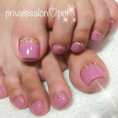 Yuko k ( Pedicure Designs, Pedicure Nail Art, Toe Nail Designs, Toe Nail Art, Acrylic Nails, Manicure, Pretty Toe Nails, Cute Toe Nails, Pretty Toes