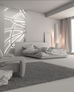 A 3D bedroom that i made from the design to postproduction.