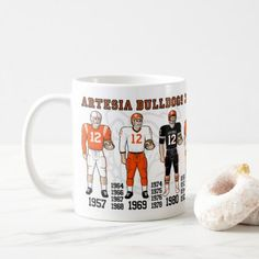 Artesia Bulldogs Football State Champ Uniforms Mug  $15.80  by skyriderdesigns  - cyo customize personalize unique diy
