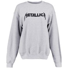 Boohoo Cora Metallica Print Sweatshirt (€33) ❤ liked on Polyvore featuring  tops, hoodies, sweatshirts, off the shoulder tops, print crop tops, ... 107696f35a