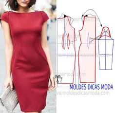 All Things Sewing and Pattern Making Fashion Sewing, Diy Fashion, Ideias Fashion, Fashion Dresses, Fashion Details, Fashion Tips, Dress Sewing Patterns, Sewing Patterns Free, Clothing Patterns