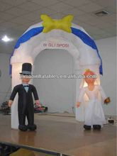 inflatable wedding arch/inflatable wedding decorations/inflatable bride and groom