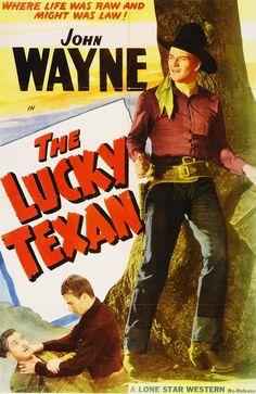 1934 THE LUCKY TEXAN movie poster / John Wayne as Jerry Mason Western Film, Iowa, John Wayne Movies, Actor John, Cowboy Art, West Texas, Texans, Movies Showing, American Actors