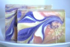 Marble swirl soap by Bath Alchemy Lab  Learn to make this soap and more in the new class ONLINE Cold Process Intermediate Soapmaking 2 - Swirling class. www.bathalchemylab.com