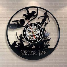 Peter Pan Disney Neverland Vinyl Home Decor Wall Art Gift Animal Nursery Movie | Home & Garden, Home Décor, Clocks | eBay!