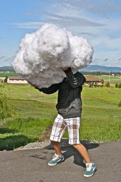 DIY fluffy clouds from the farm chicks.