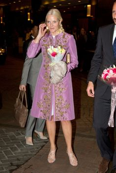 Crown Princess Mette-Marit of Norway during an official visit to Indonesia in November 2012