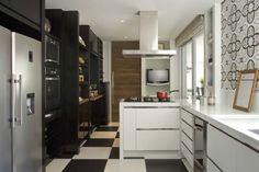 cozinha branco e preto