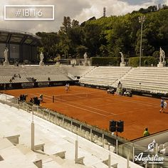 The soul of the Foro Italico in #Rome and in the heart of every #tennis lover: the Pietrangeli Stadium. #IBI16