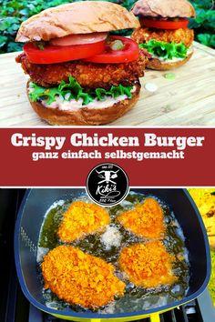 Grill & BBQ Rezept für einen super, saftigen Crispy Chicken Burger. Wir zeigen Euch wir ihr diesen fantastischen Burger ganz einfach selber zubereiten könnt.