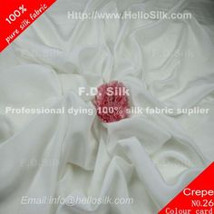 www.silkfabricwholesale.com/  F.D. silk most professional 14mm silk crepe de chine fabric-natual white supplier.