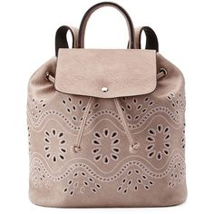 Mellow World Addy Perforated Backpack ❤ liked on Polyvore featuring bags, backpacks, day pack backpack, backpack bags, embroidered bag, daypack bag and rucksack bags