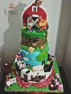 La canción de la granja Barnyard Party, Farm Party, Farm Birthday, 2nd Birthday Parties, Petting Zoo Party, Country Themed Parties, Bolo Fack, Fall 1st Birthdays, Carousel Cake