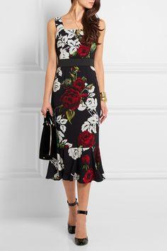 Dolce & Gabbana | Floral-print crepe dress | NET-A-PORTER.COM