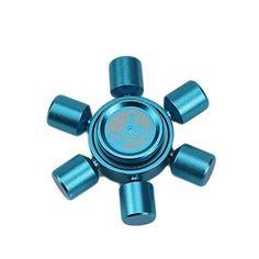 Weirui Brass Hexagon Fidget Spinners Hand Spinner for Killing Time Fidget Toy With Premium Hybrid Ceramic Bearing (Blue) Figit Spinner, Diy Fidget Spinner, Cool Fidget Spinners, Pokemon Go, Harry Potter Fidget Spinner, Boat Wheel, Fidget Toys, Edc, Aluminium Alloy