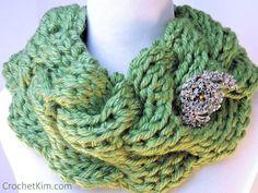 CrochetKim Free Crochet Pattern | Rippling Waves Cowl @crochetkim
