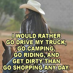 Depends what are we shopping for? Jeans? Tack? ANIMALS!?