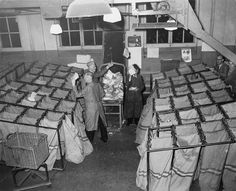 1951. Mail sorting at the PTT in Amsterdam. #amsterdam #1951
