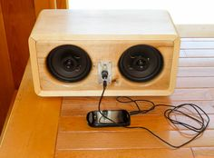 homemade wooden speaker box - Google Search
