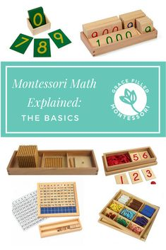Montessori Math Explained: The Basics Giving your child a solid math foundation starts from the beginning! Here is the first in a series unpacking the Montessori approach to teaching math to young toddlers all the way through Kindergarten. Montessori Kindergarten, Montessori Homeschool, Montessori Elementary, Montessori Classroom, Montessori Toddler, Preschool Curriculum, Montessori Activities, Teaching Math, Kindergarten Stem