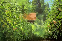 The amazing background art of Kazuo Oga ('Only Yesterday', Studio Ghibli). Digital Backgrounds, Animation Art, Anime Scenery, Environment Design, Studio Ghibli Background, Art, Animation Background, Environmental Art, Landscape Art