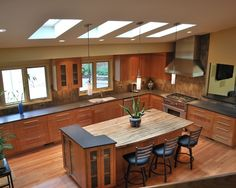 Kitchen Kitchens With Natural Cherry Cabinets And Granite Counters Design, Pictures, Remodel, Decor and Ideas - page 9