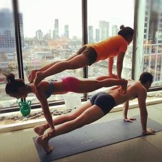 wow doing the plank on the ground is hard enough!