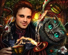 Drink Me Sebastian Stan as Jefferson, The Mad Hatter from Once Upon A Time. I don't care that the cat comes from the Burton's movie and not OUAT, he's too perfect no to be featured here. ♥ (Photoshop...