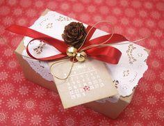 Рождественский подарок коробка