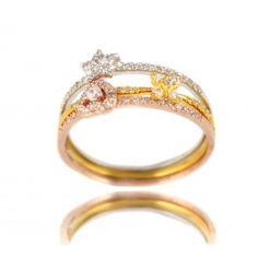 Sortija Tres motivos en Plata/Oro Amarillo/Oro rosa/ Triple Ring in Silver/Yellow Gold and Pink Gold 23€