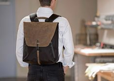 Staad Laptop Backpack - Office Ready | WaterField Designs | #USMade | http://www.sfbags.com/collections/backpacks/products/staad-laptop-backpack