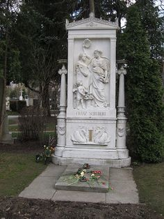 The Grave Of Franz Schubert    Franz Schubert's Grave is in the third most prominent position in the Vienna Central Cemetary's Musiker section.