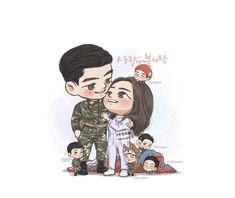 Crash landing on you Cute Couple Comics, Cute Couple Art, Korean Drama Best, Korean Drama Movies, Hyun Bin, Parejas Goals Tumblr, Kdrama, Chibi, Drama Funny