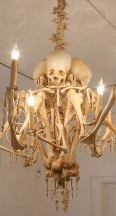 Skeleton Chandelier, 13 Home Furnishings that are Seriously Wrong. igotta gitit