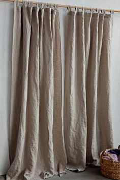 10 Flattering Cool Tips: Kitchen Curtains Modern grey curtains ideas.Elegant Curtains Bedroom short curtains fix.Sheer Curtains With Drapes. Sheer Linen Curtains, No Sew Curtains, Short Curtains, Drop Cloth Curtains, Rustic Curtains, Curtains Living, Rod Pocket Curtains, Hanging Curtains, Kitchen Curtains