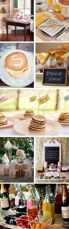 Breakfast Wedding inspiration...love the crossword puzzle at the place setting!