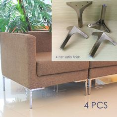 Net weight of each leg: 320g. Material Solid stainless steel. Accessories for DIY furniture, cabinets, shelves. More details. | eBay!
