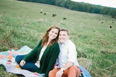 Madelyn Nicole Photography | Amy + Brandon Engagement Session  Fall \ Farm \ North Alabama \ Quilt